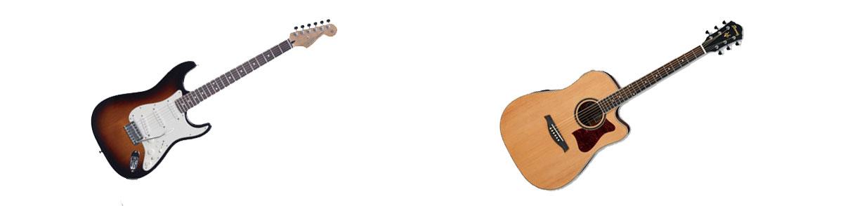 elektrische gitaar akoestische gitaar