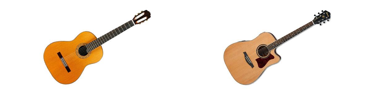 Spaanse gitaar western gitaar