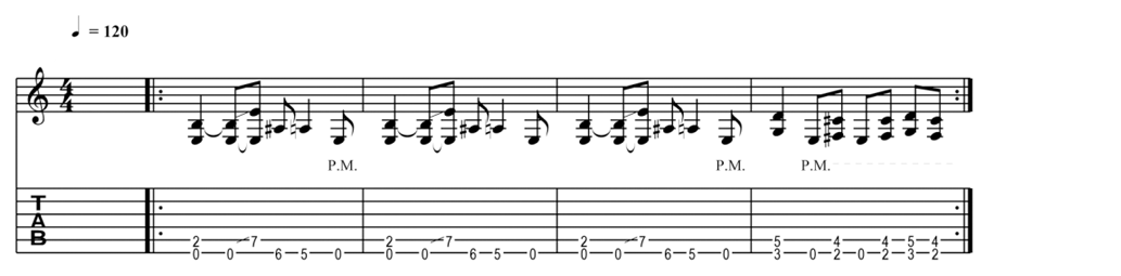 metallica - enter sandman tabs en noten